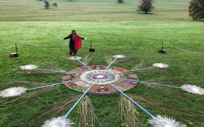 PEACOCK RANGOLI – KEDLESTONE HALL,DERBY